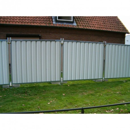 Cloture mobile opaque blanche 2,20ml*ht:2,00m