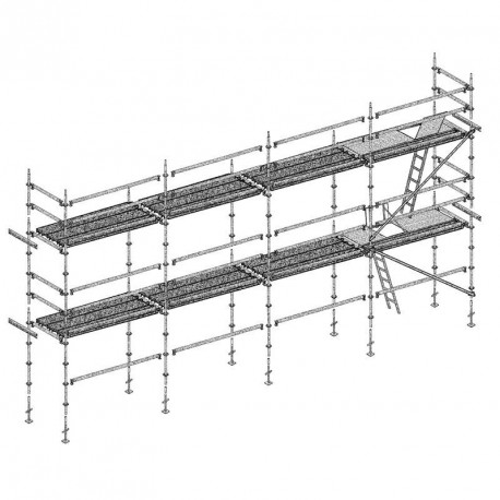 Échafaudage Multivit+ 2, lot de 78 m² - Structure + planchers + plinthes, Lisses