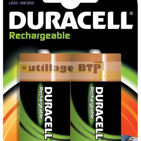 Pack 2 piles rechargeables hr20 ni-mh