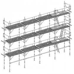 Lot échafaudage multivit 1 - 104 m² - structure avec planchers version garde corps SECU