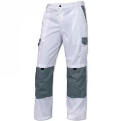 Pantalon PAINTER, Blanc/Gris - LATINA