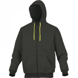 Sweat POLAIRE, Gris/Jaune - CENTO