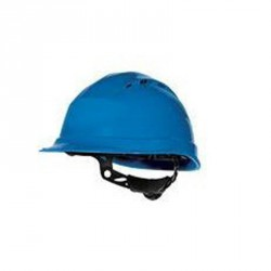 Casque de chantier ventilé, Bleu - QUARTZ UP IV