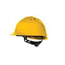 Casque de chantier ventilé, Jaune - QUARTZ UP IV