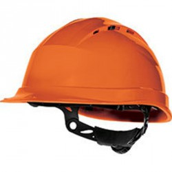 Casque de chantier ventilé, Orange - QUARTZ UP IV