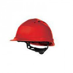 Casque de chantier ventilé, Rouge - QUARTZ UP IV