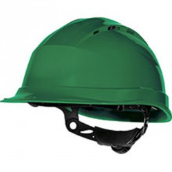 Casque de chantier ventilé, Vert - QUARTZ UP IV