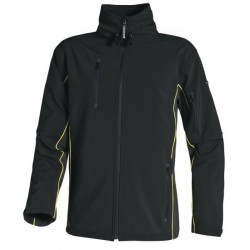 Veste de travail SOFTSHELL, Noir/Orange - HORTEN