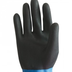 Lot de 10 gants néoprène 300 mm. Support polyester coton.