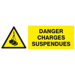 "Panneau rectangulaire ""Danger, charges suspendues"""