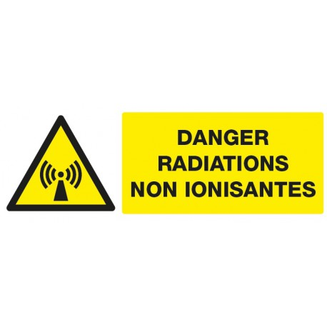 "Panneau rectangulaire ""Danger radiations non ionisantes"""