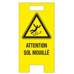 "5 chevalets PP alvéolaire ""Attention sol mouillé"""