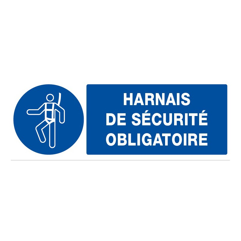 Panneau rectangulaire harnais de s curit obligatoire for Harnais de securite elagage