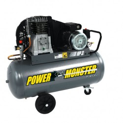 Compresseur professionnel 3cv 100 litres - 400 volts - mecafer power monster