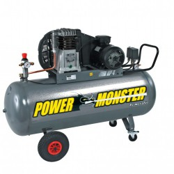Compresseur professionnel 4cv 200 litres - 400 volts - mecafer power monster